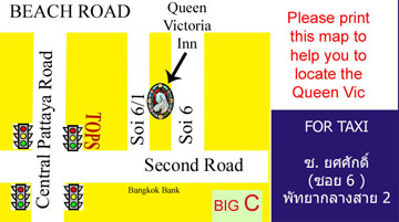 Map to Queen Vic